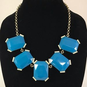 Banana Republic teal blue color necklace